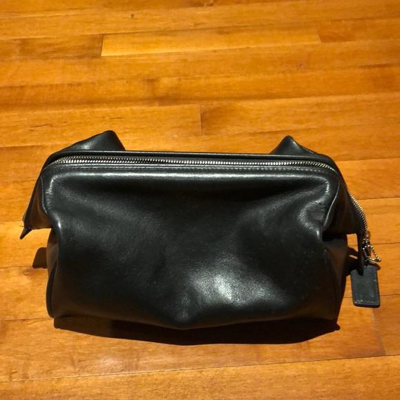 coach bags mens black leather dopp kit poshmark rh poshmark com